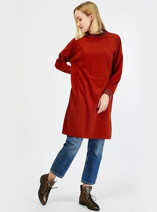 Terra Cotta - Polo neck - Tunic