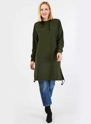 Khaki - Polo neck - Tunic