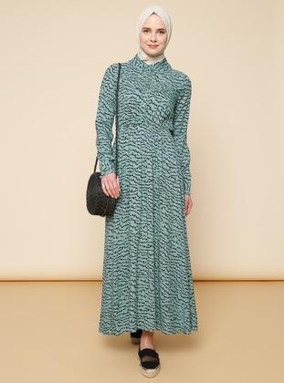 Green Almond - Multi - Point Collar - Dress