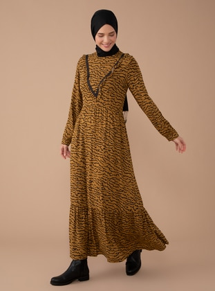 Cinnamon - Multi - Polo neck - Dress