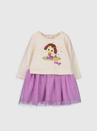 Beige - Baby Dress