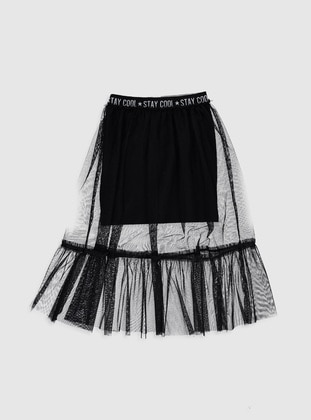 Black - Girls` Skirt - LC WAIKIKI