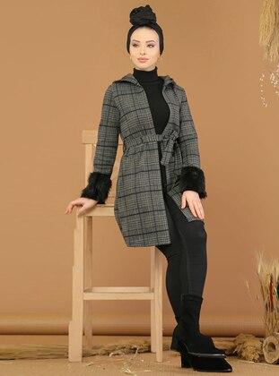 Khaki - Plaid - Unlined -  - Jacket