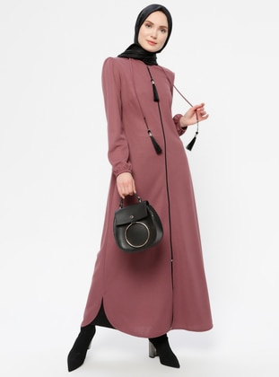 Unlined - Dusty Rose - Crew neck - Evening Suit - AYŞE MELEK TASARIM