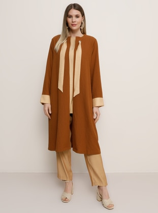 Camel - Plus Size Suit