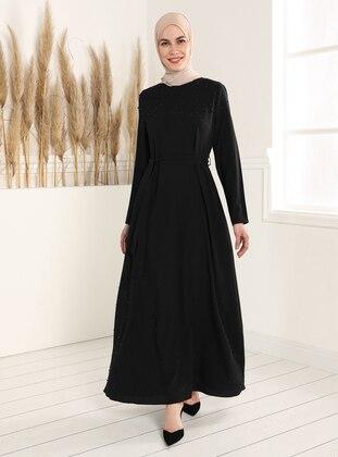 Bead Detailed Dress - Black