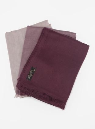 Lilac - Plum - Mink - Plain - Pashmina - Viscose - Shawl
