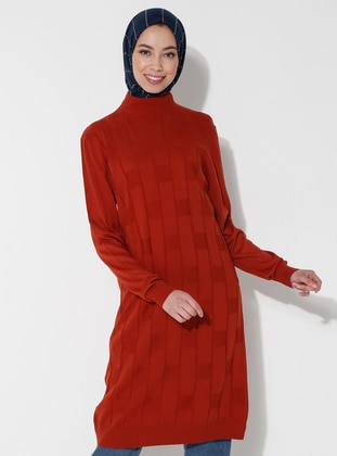 Terra Cotta - Polo neck - Acrylic -  - Tunic