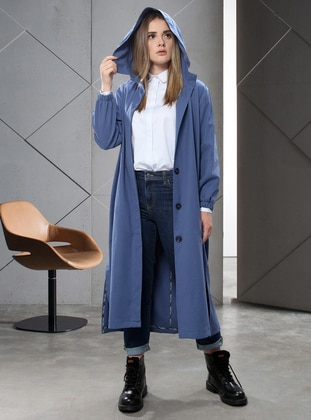 Indigo - Unlined -  - Trench Coat