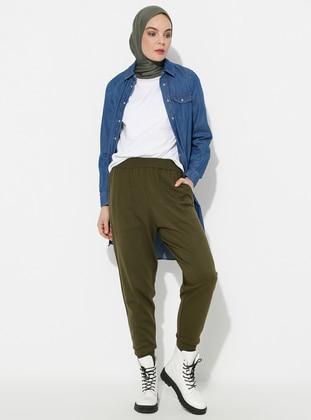 Khaki - Acrylic -  - Pants - ERL
