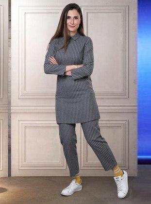 Gray - Unlined -  - Suit