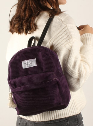 Purple - Backpack - Shoulder Bags