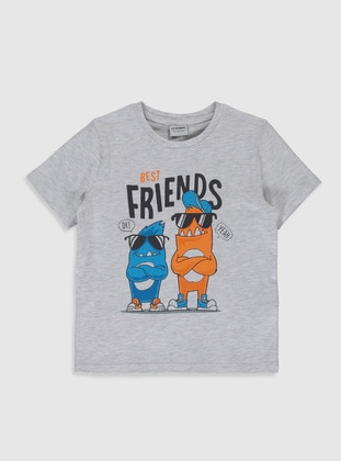 Gray - Boys` T-Shirt