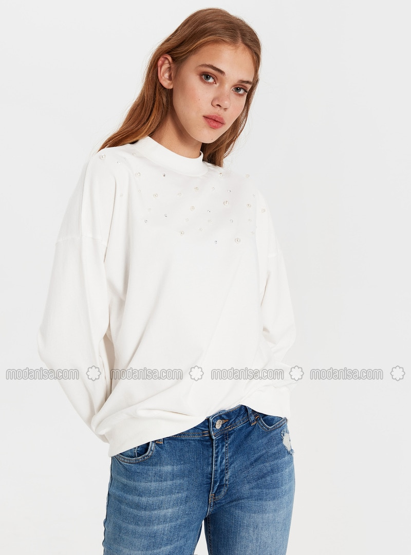 Ecru - Sweat-shirt