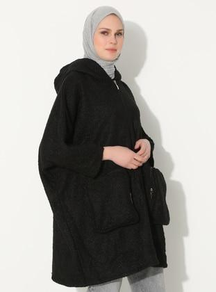 Black - Unlined -  - Coat