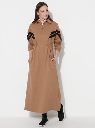Brown - Unlined -  - Dress