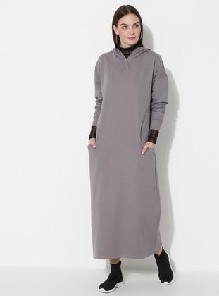 Gray - Unlined -  - Dress