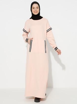 Salmon - Crew neck - Unlined -  - Dress