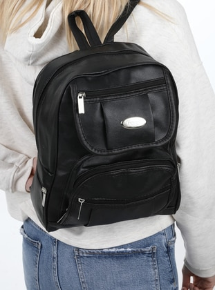 Black - Satchel - Backpacks