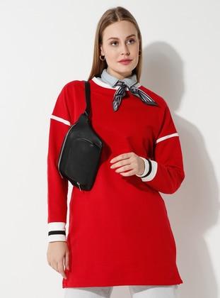- Crew neck - Red - Sweat-shirt