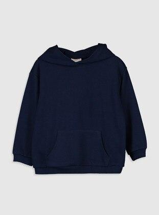 Navy Blue - Girls` Sweatshirt - LC WAIKIKI
