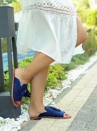 Navy Blue - Slippers