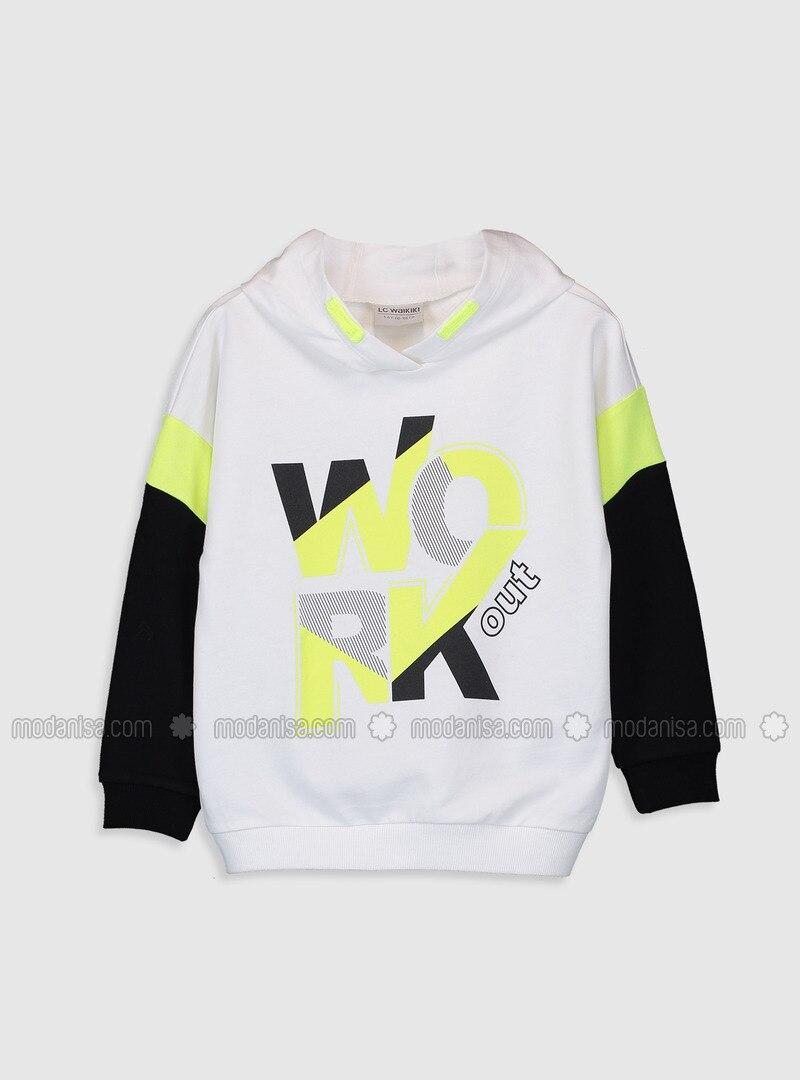 White - Girls` Sweatshirt