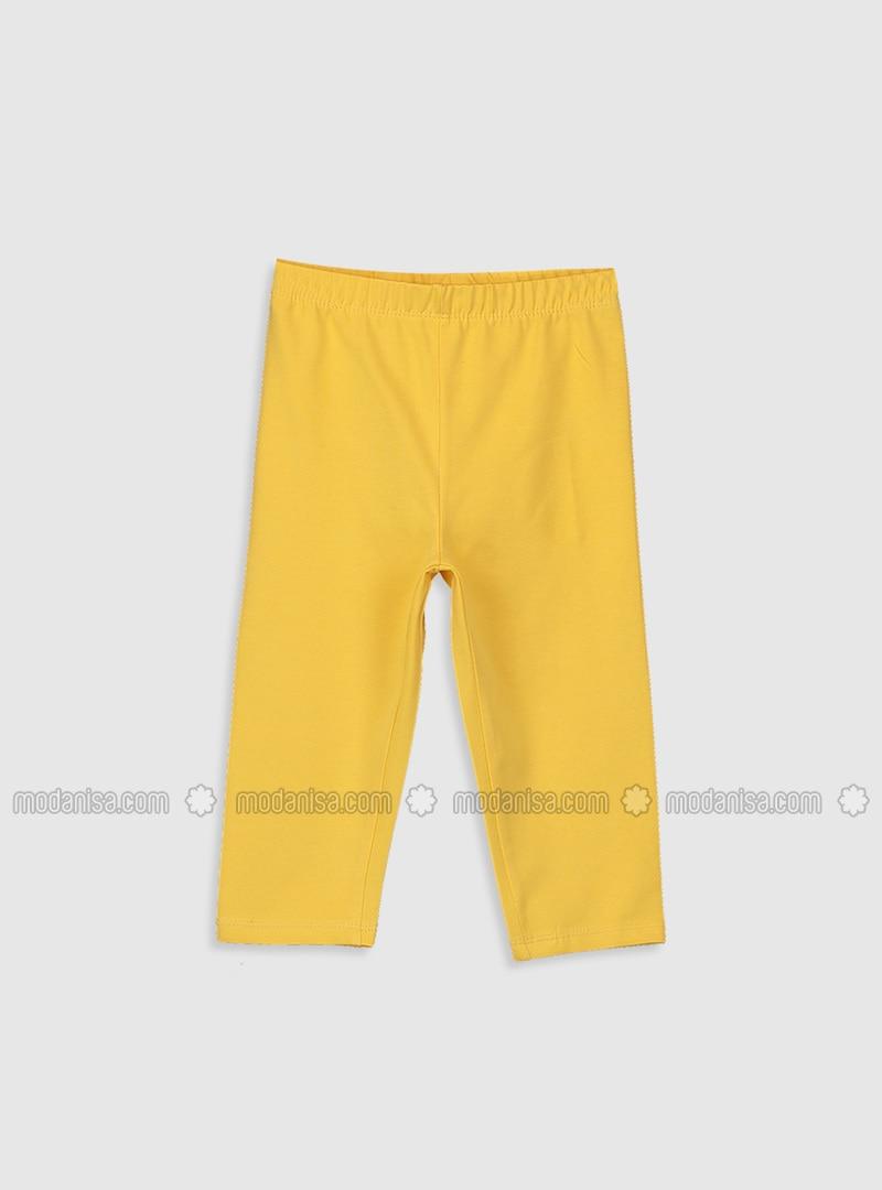 Yellow - Girls` Leggings