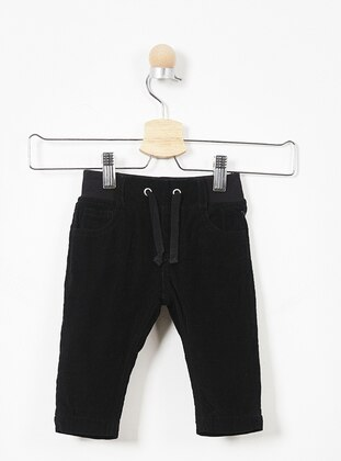 Cotton - Black - Baby Pants