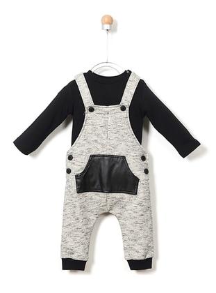 Crew neck - Cotton - Black - Baby Suit