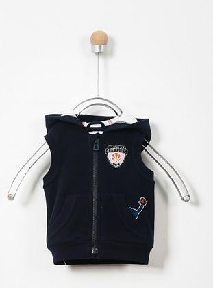 - Unlined - Navy Blue - Baby Vest - Panço
