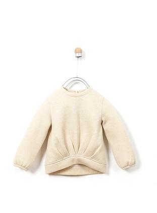 Crew neck - Cotton - Viscose - Gold - Girls` Sweatshirt