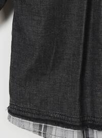 Point Collar - Cotton - Black - Boys` Shirt