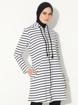 White - Stripe -  - Tunic