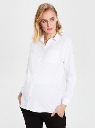 White - Maternity Blouses Shirts - LC WAIKIKI