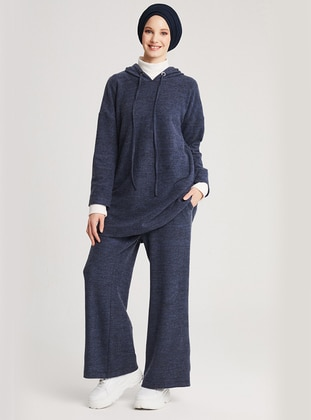 Navy Blue - Unlined -  - Suit