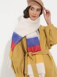 Acrylic - Wool Blend - Plain - Fringe - Shawl Wrap