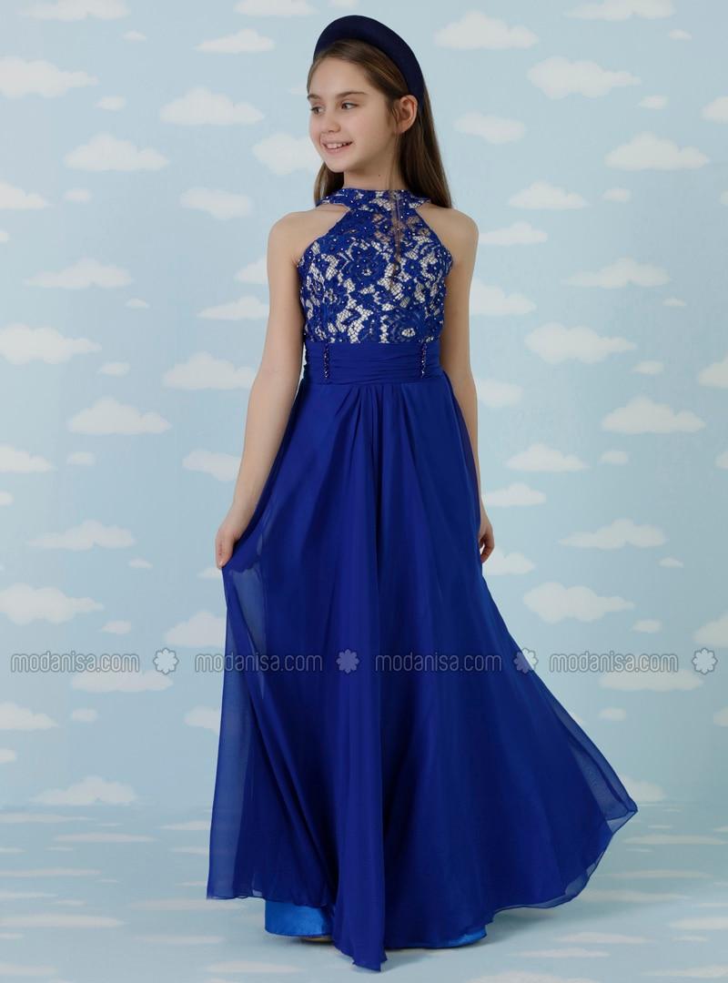 royalblau - kleider für mädchen