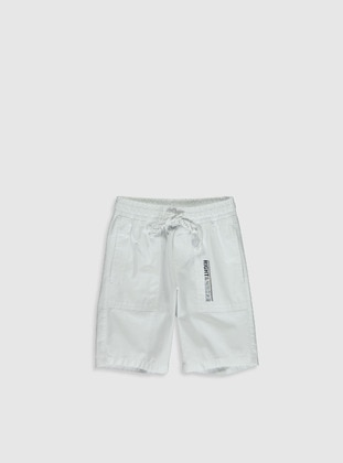 White - Boys` Shorts