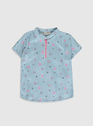 Blue - Girls` Blouse
