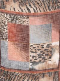 Brown - Terra Cotta - Printed - Scarf