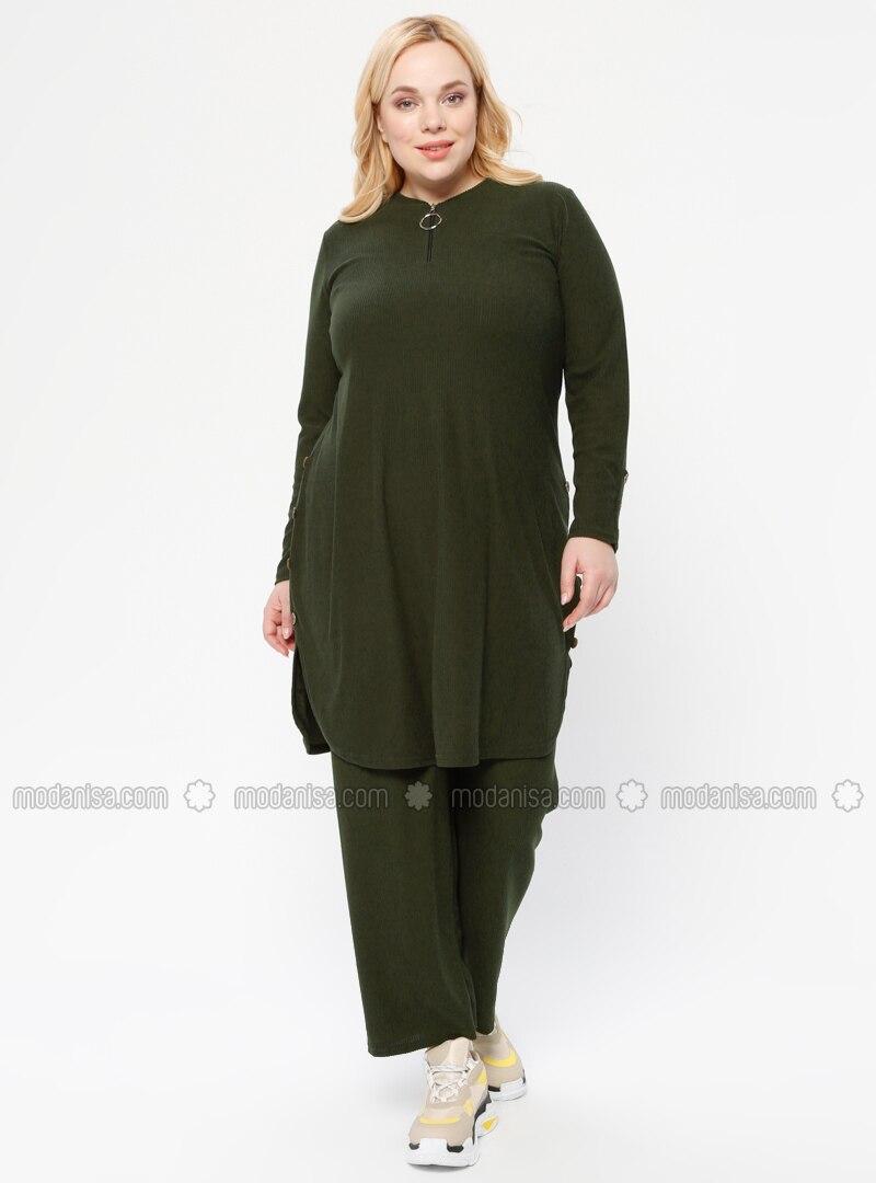 Emerald - Crew neck - Unlined - Plus Size Suit