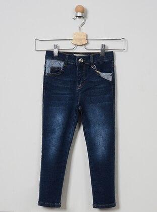 Denim - Unlined - Navy Blue - Boys` Pants