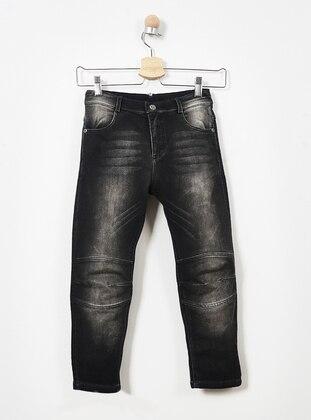 Cotton - Black - Boys` Pants