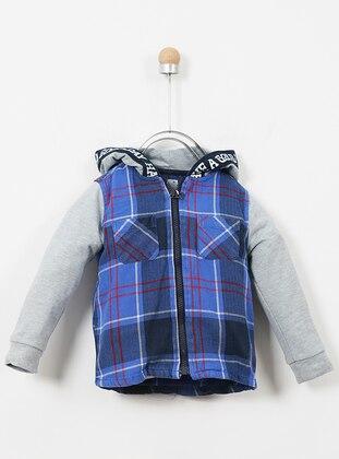 Cotton - Unlined - Navy Blue - Boys` Sweatshirt
