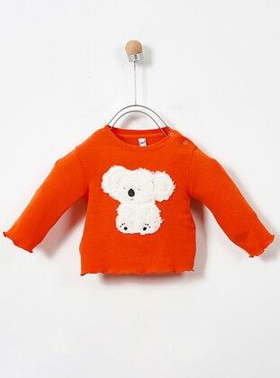 Crew neck - Cotton - Orange - Baby Skirt