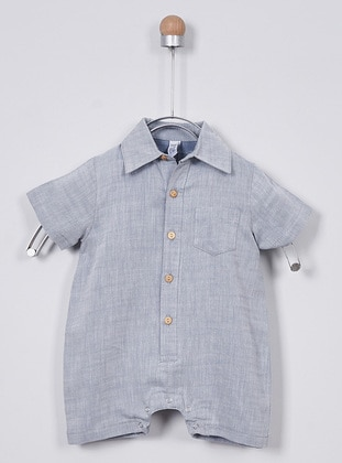 Point Collar -  - Unlined - Blue - Overall