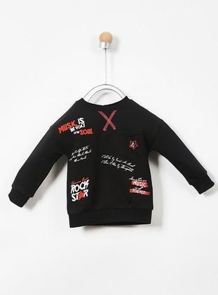 Multi - Crew neck - Cotton - Black - Baby Skirt