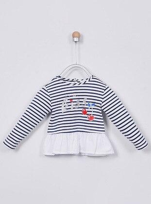 Stripe - Navy Blue - baby t-shirts