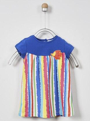 Multi - Crew neck - - Multi - Baby Dress